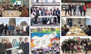 collage of photos from visits